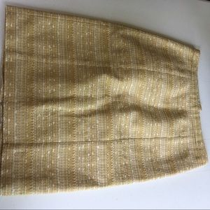 Lilly Pulitzer Gold and Cream Skirt Size 4